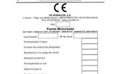 ¿Conocías que Serraller te puede facilitar Etiquetas de Marcado CE ya impresas?